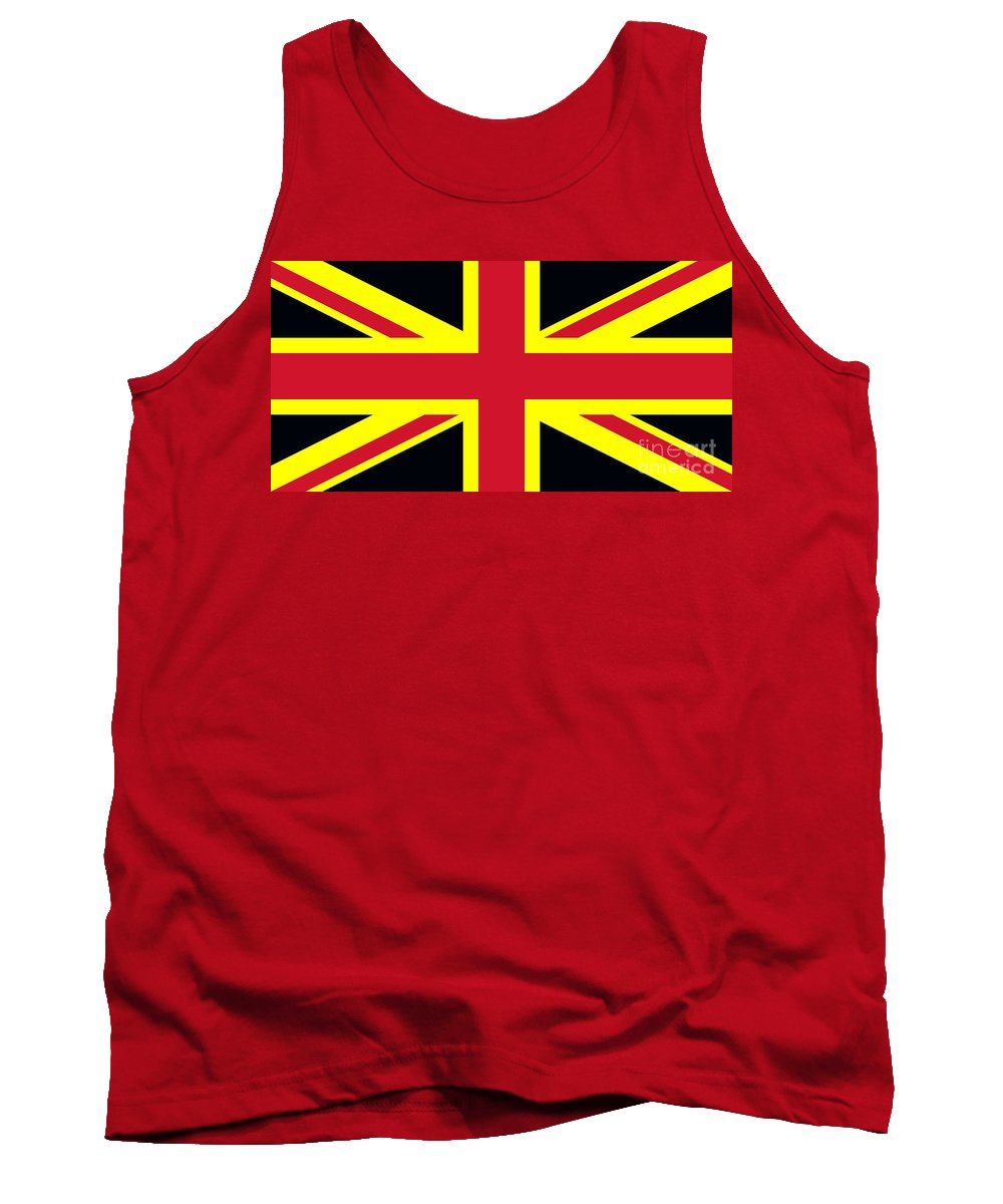Apart Tank Top featuring the photograph Uk Flag by Dan Radi