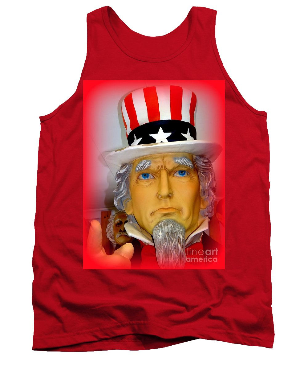 Uncle Sam Tank Top featuring the photograph Uncle Sam Wants You by Ed Weidman