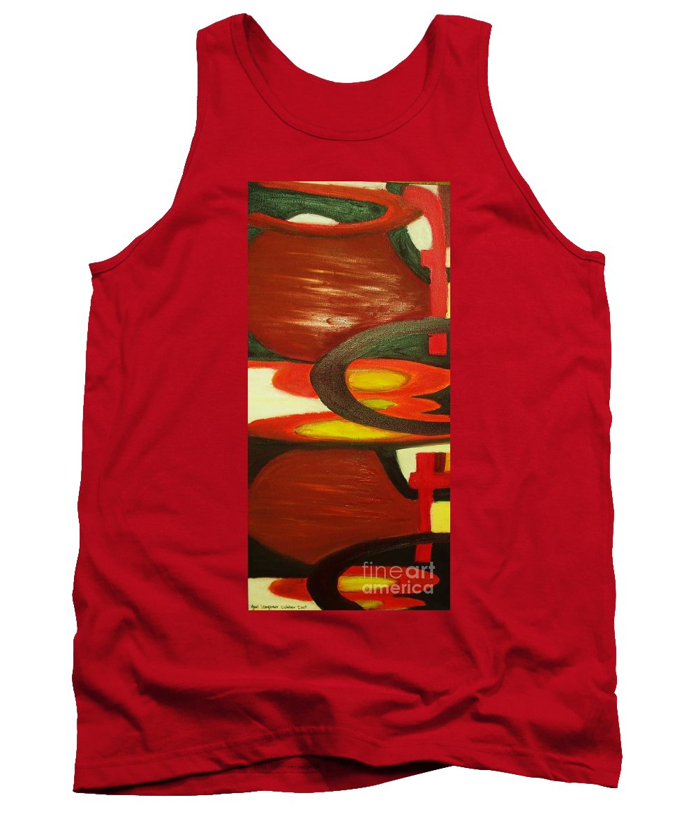 Oil Abstract Tank Top featuring the painting Unique I by Yael VanGruber