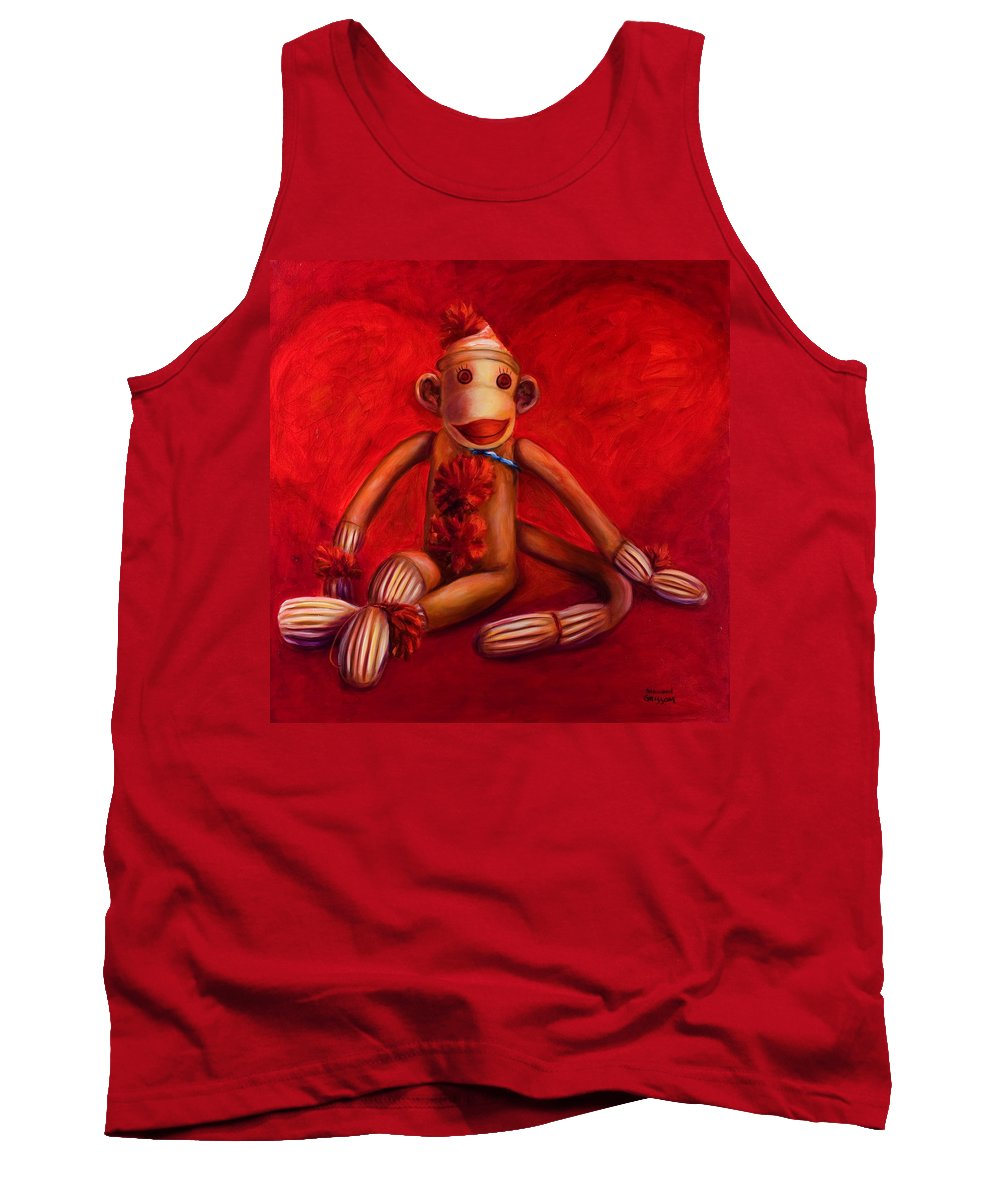 Children Tank Top featuring the painting Valentine by Shannon Grissom