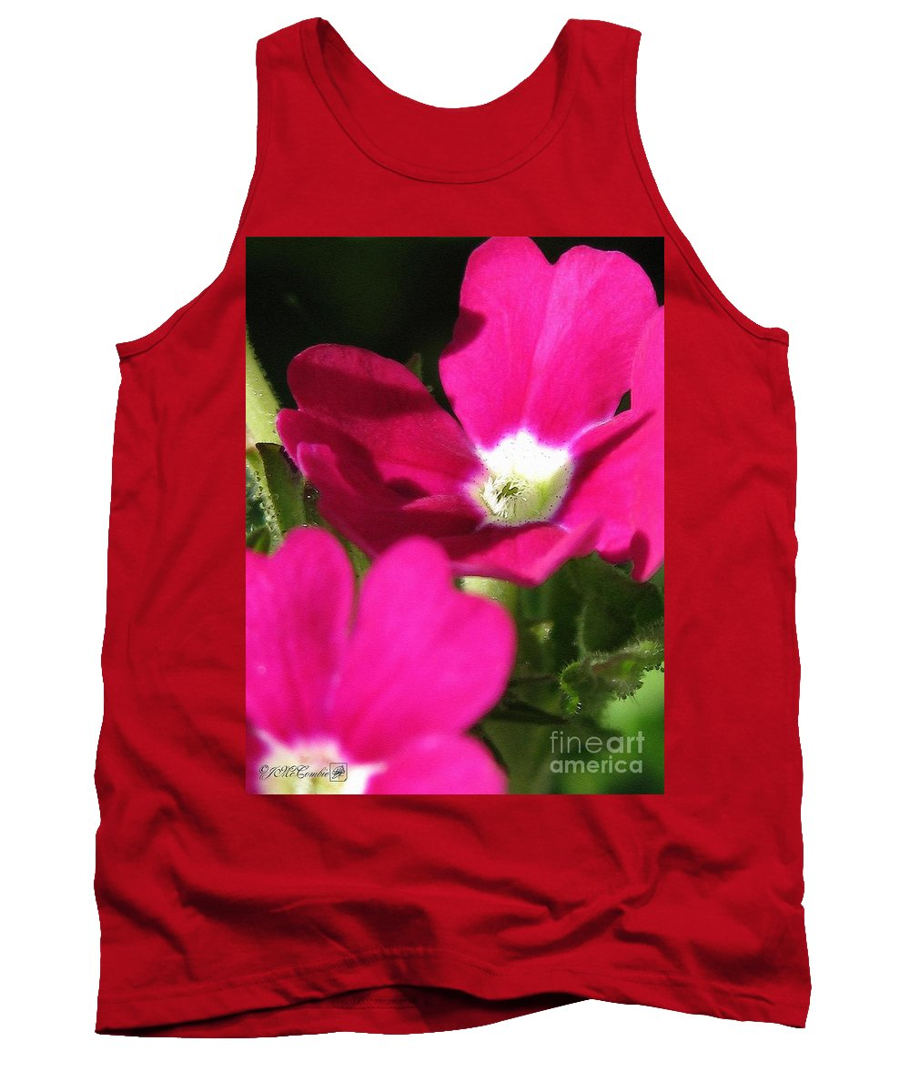 Verbena Tank Top featuring the painting Verbena From The Ideal Florist Mix by J McCombie