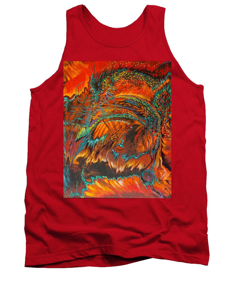 Dragon Tank Top featuring the painting Vision Quest by Judi Cain