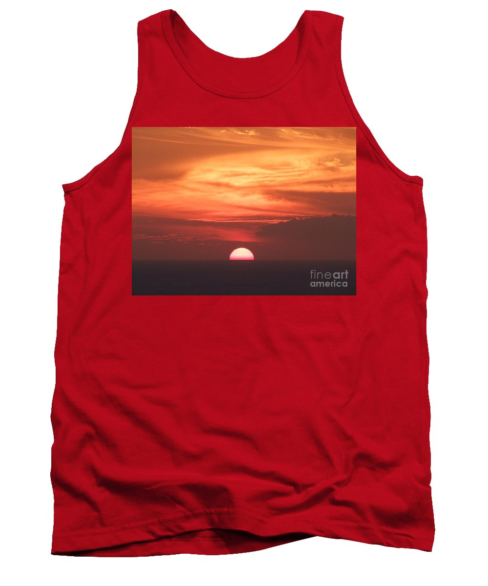 Sunset Tank Top featuring the photograph Waikiki Sunset No 3 by Mary Deal