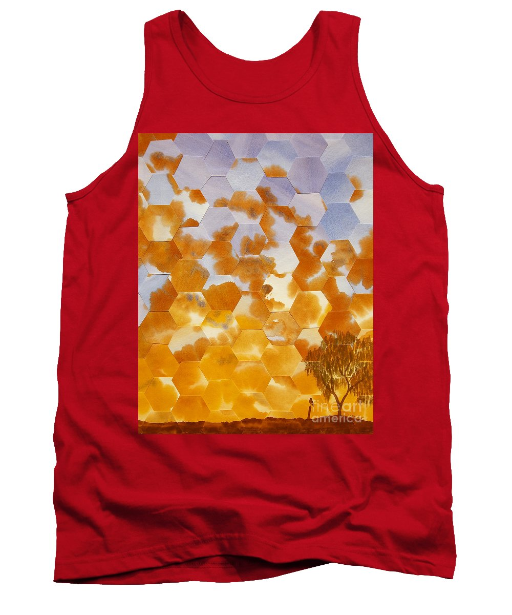 Landscape Tank Top featuring the painting Waiting For My Honey To Come Home by Jeni Bate
