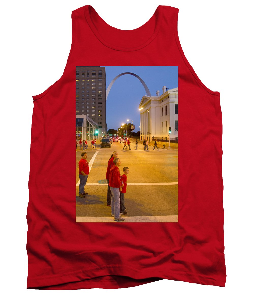St Louis Tank Top featuring the photograph Waiting On Red by Garry McMichael
