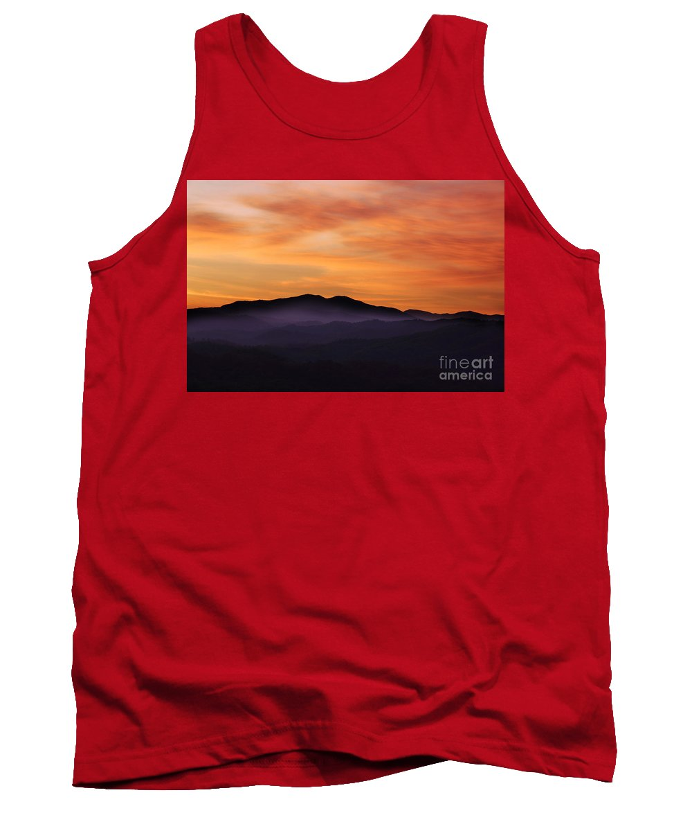 Smoky Mountains Sunrise Tank Top featuring the photograph Wake Up It's A New Day by Michael Eingle