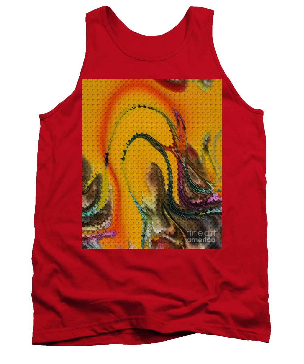 Waves Of Music Tank Top featuring the digital art Waves Of Music by Liane Wright