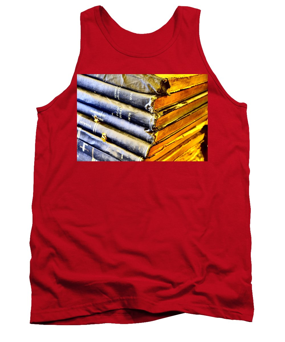 Books Tank Top featuring the photograph Wikipedia Origins by Tom Maimran