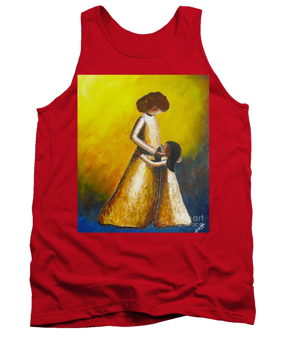 With Her Tank Top featuring the painting With Her by Jacqueline Athmann