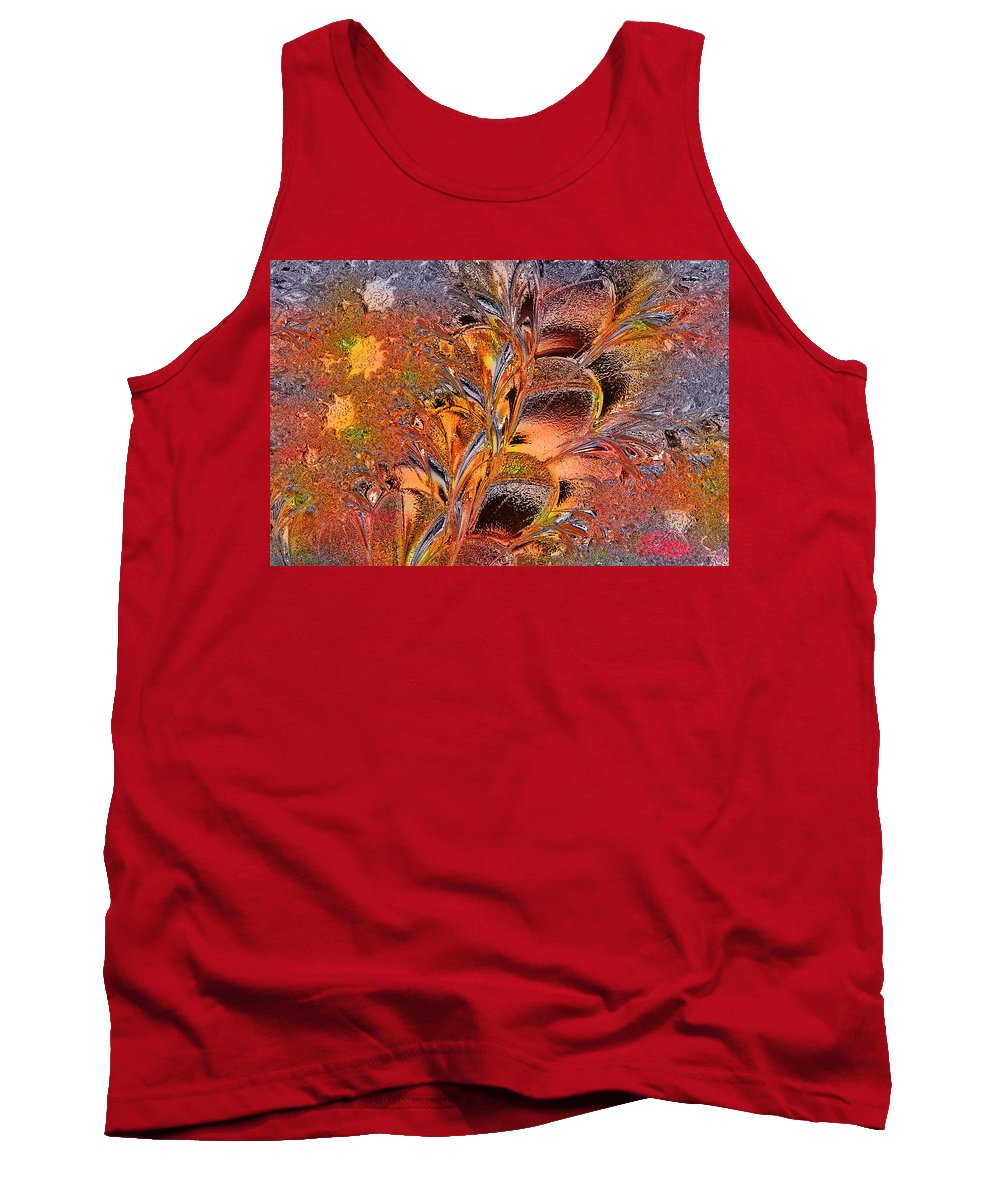 Glass Tank Top featuring the digital art Within The Glass by Paula Ayers