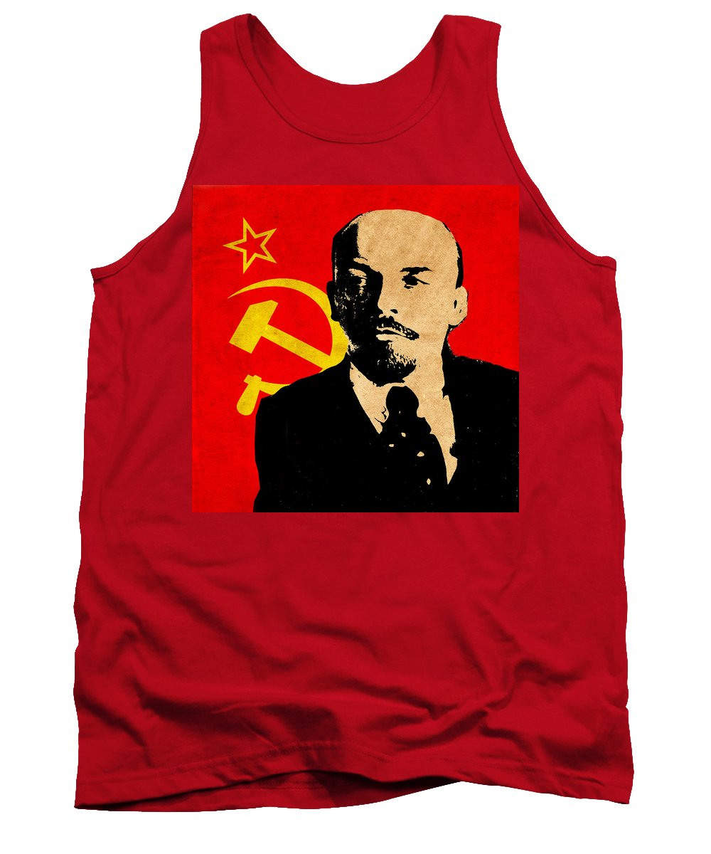 Lenin Tank Top featuring the photograph World Leaders 8 by Andrew Fare