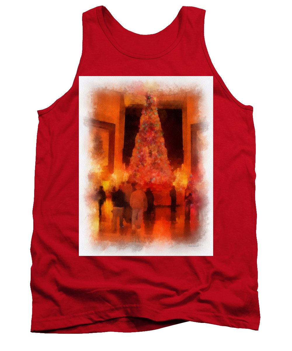 Tree Tank Top featuring the photograph Xmas Time At Msi Photo Art by Thomas Woolworth