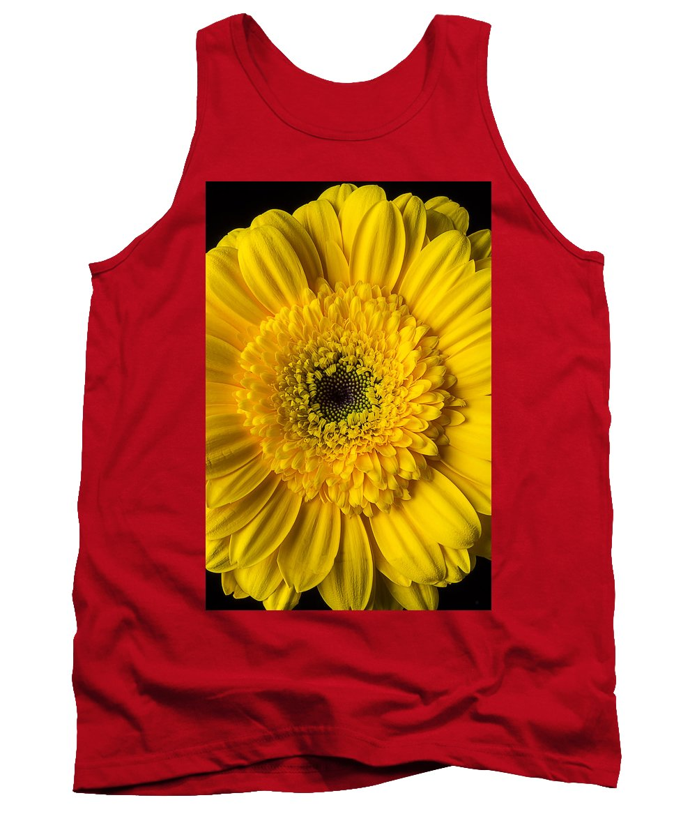 Yellow Tank Top featuring the photograph Yellow Daisy Close Up by Garry Gay
