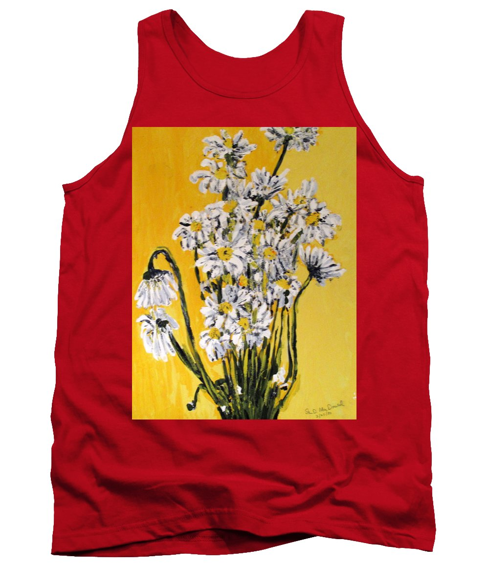 Daisy Tank Top featuring the painting Yellow by Ian MacDonald