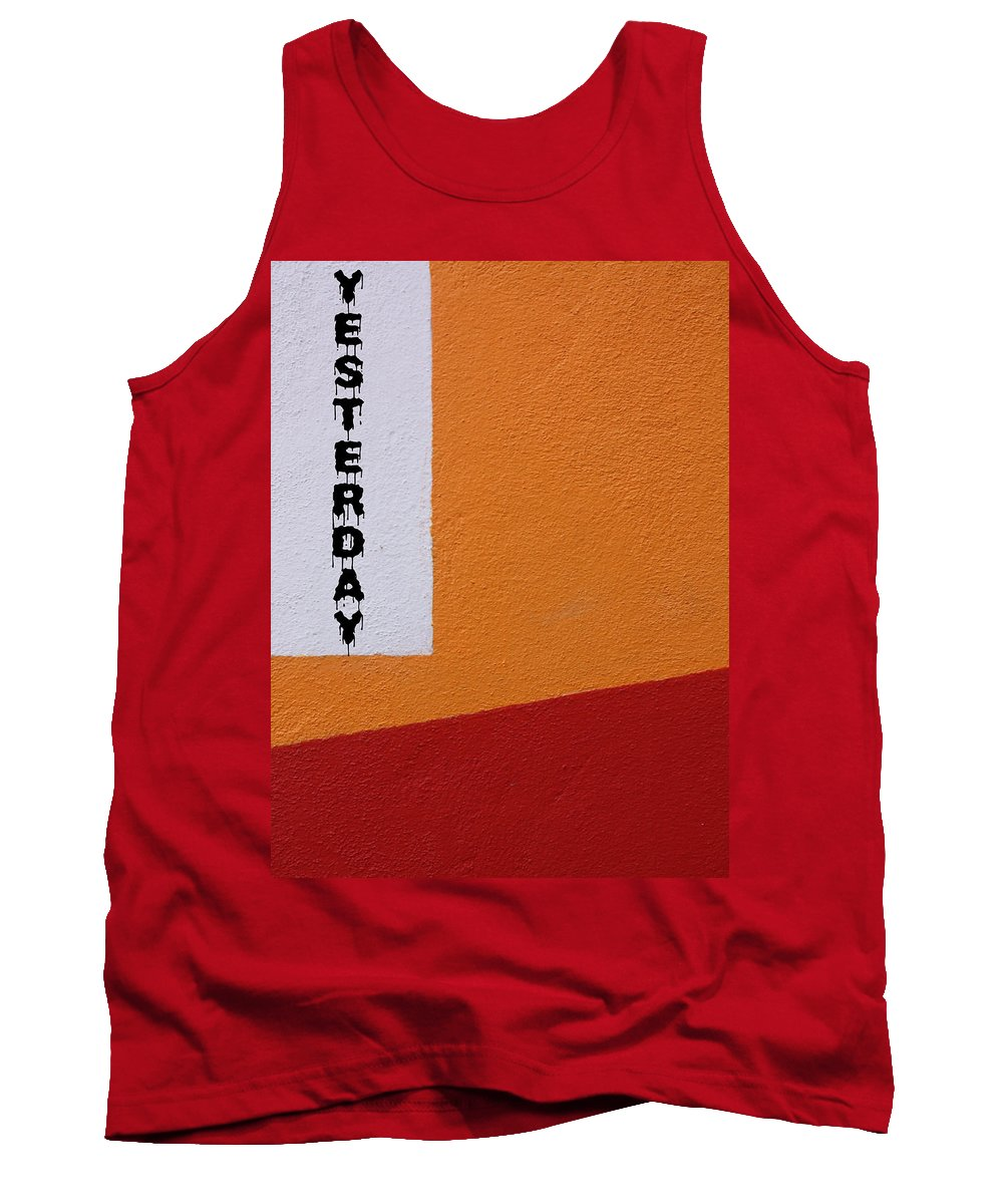 Abstract Tank Top featuring the photograph Yesterday by The Artist Project