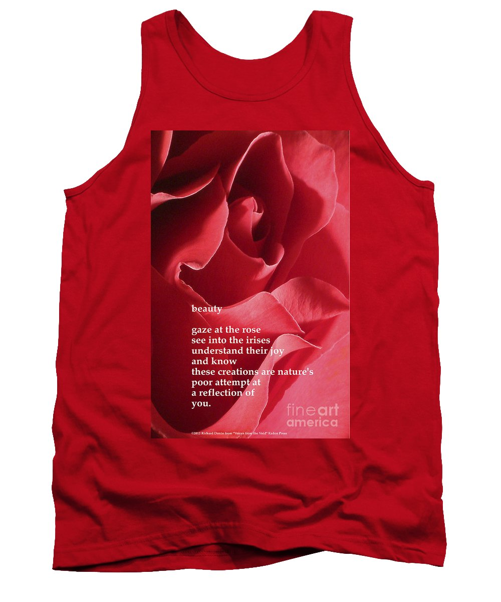Beauty Tank Top featuring the photograph Beauty by Richard Donin