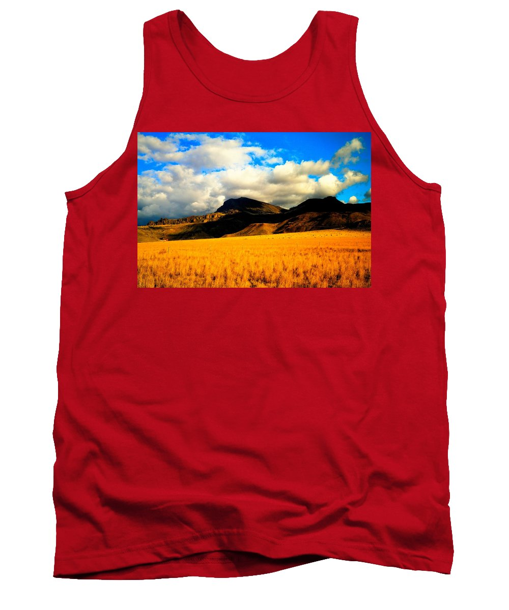 Landscape Tank Top featuring the photograph Clouds In The Mountains by Jeff Swan