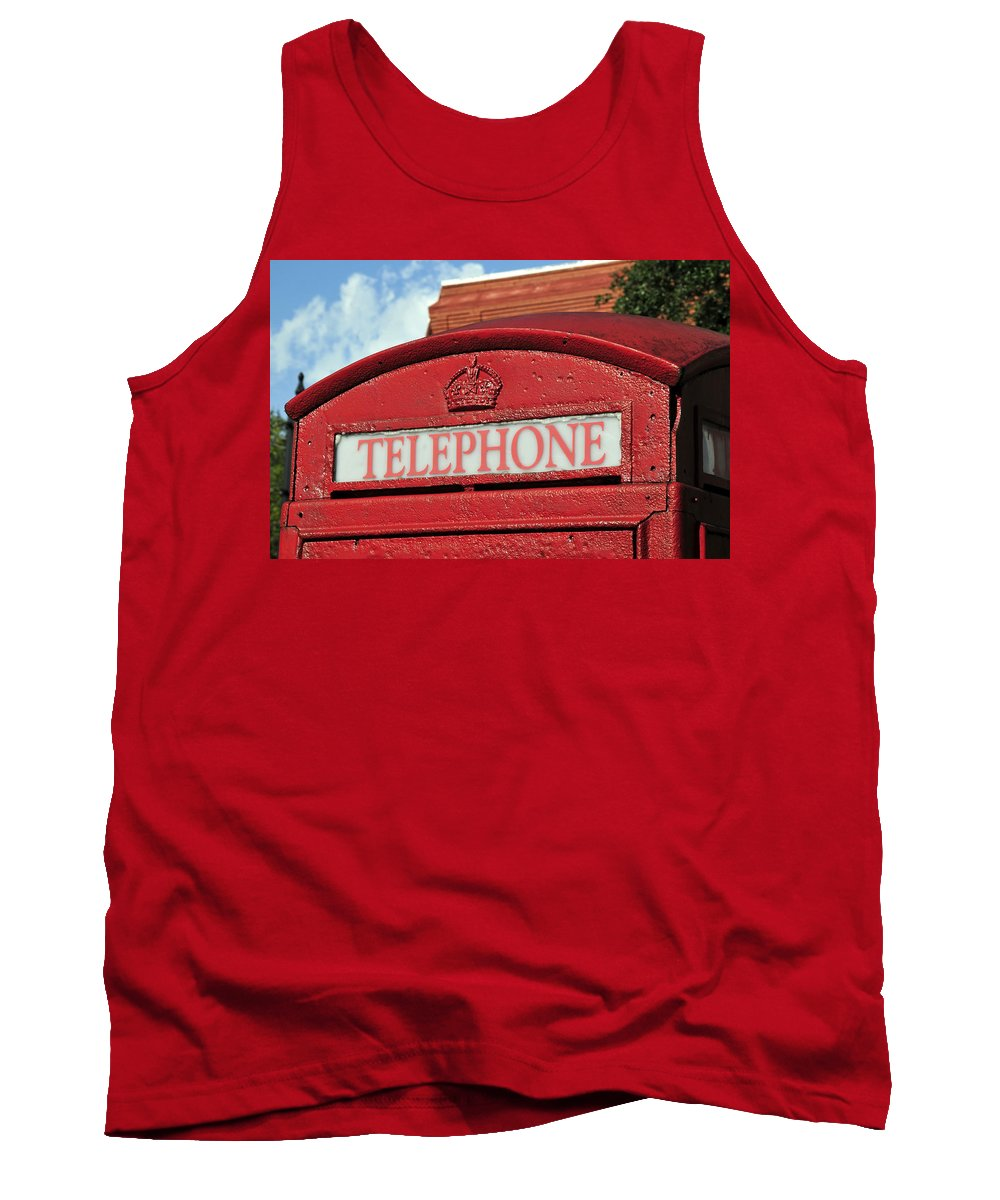 British Red Telephone Both Tank Top featuring the photograph London Calling by David Lee Thompson