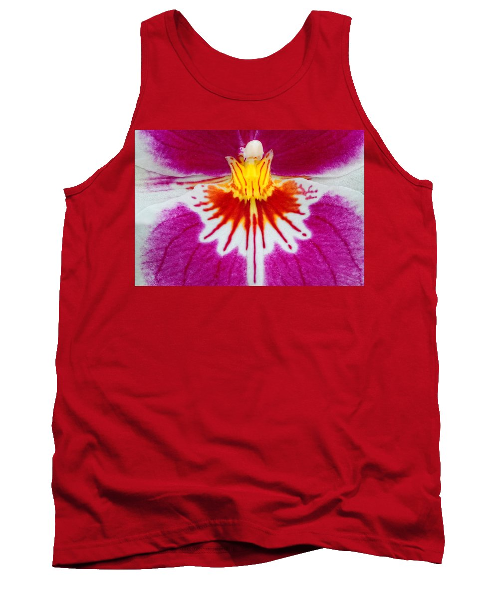 Orchid Tank Top featuring the photograph Orchid Closeup by Dave Mills
