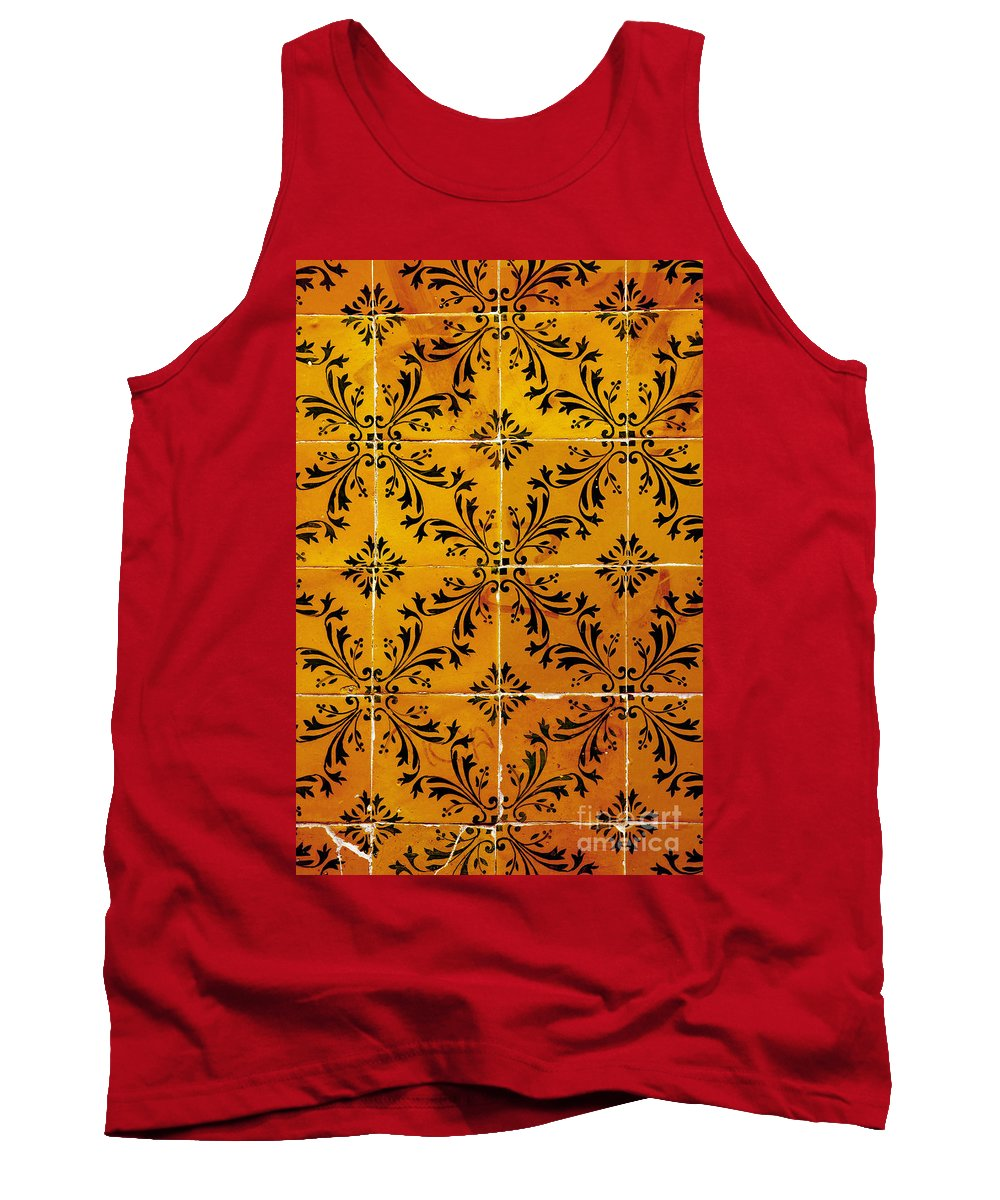 Abstract Tank Top featuring the photograph Portuguese Tiles by Carlos Caetano
