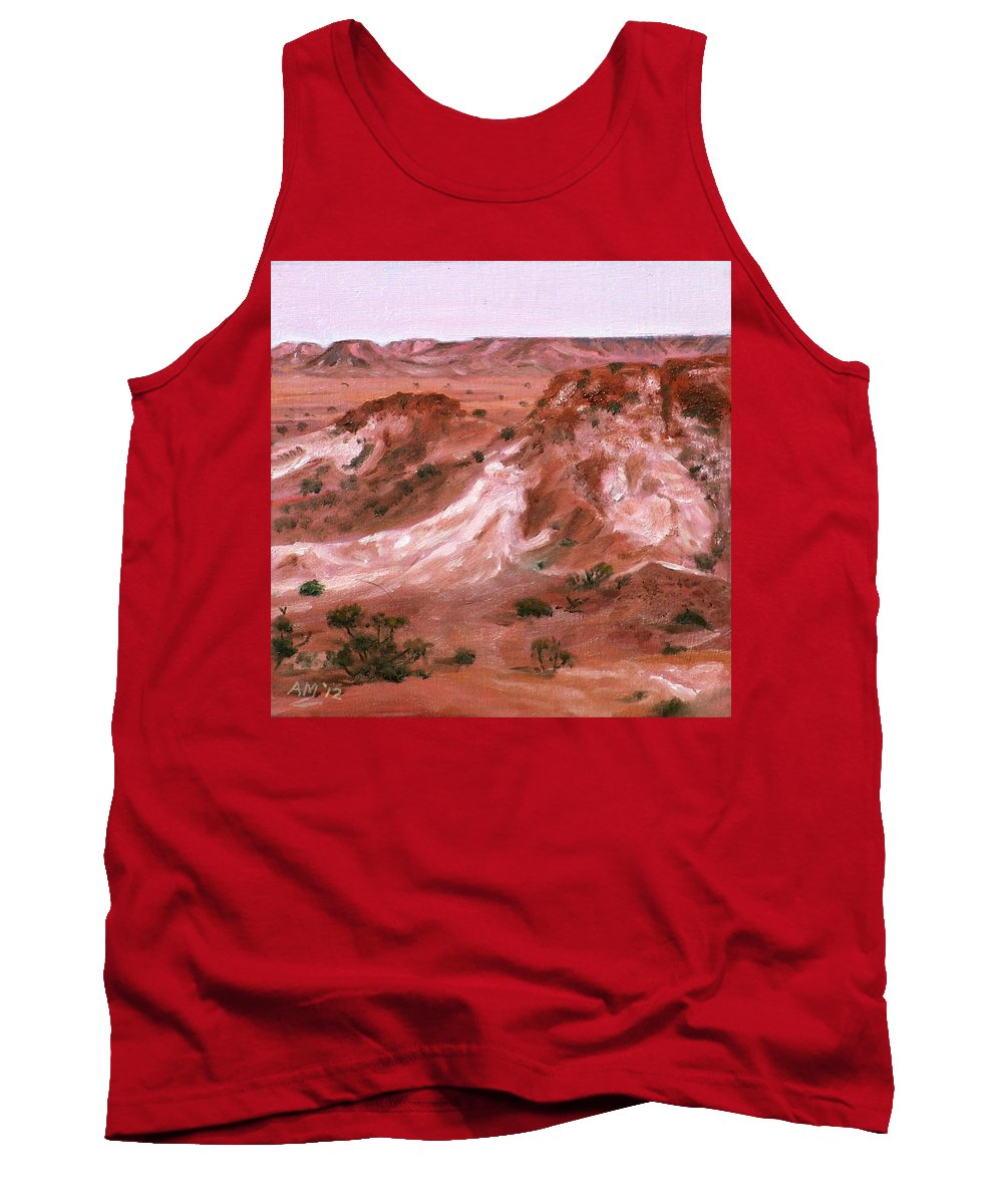 Oil Tank Top featuring the painting The Breakaways 4 2012 by Alex Mortensen