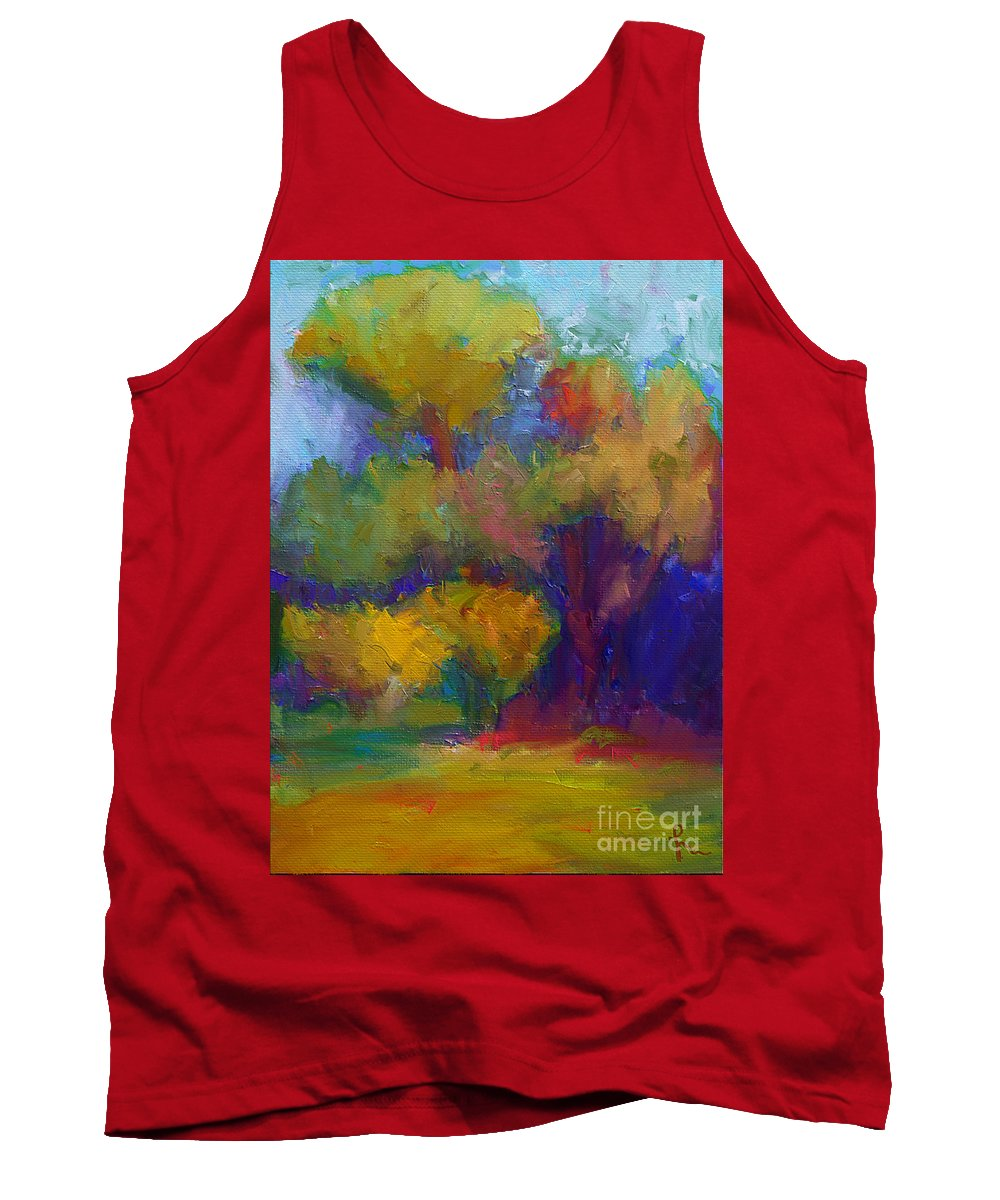 Mediterraneo Tank Top featuring the painting A Mediterranian Morning by Dragica Micki Fortuna