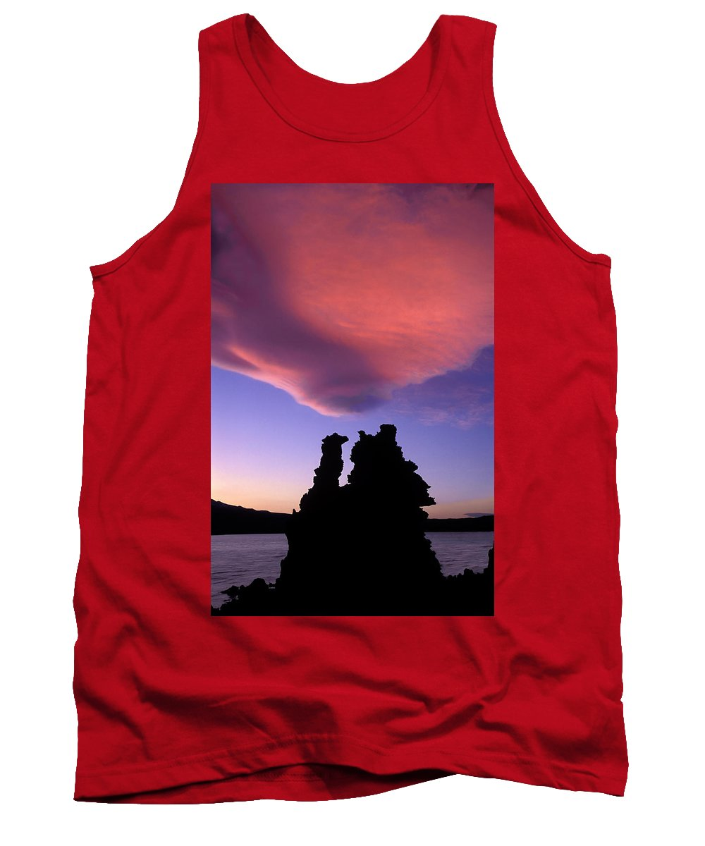 Mono Lake Tank Top featuring the photograph A Mono Lake Sunset by Dave Mills