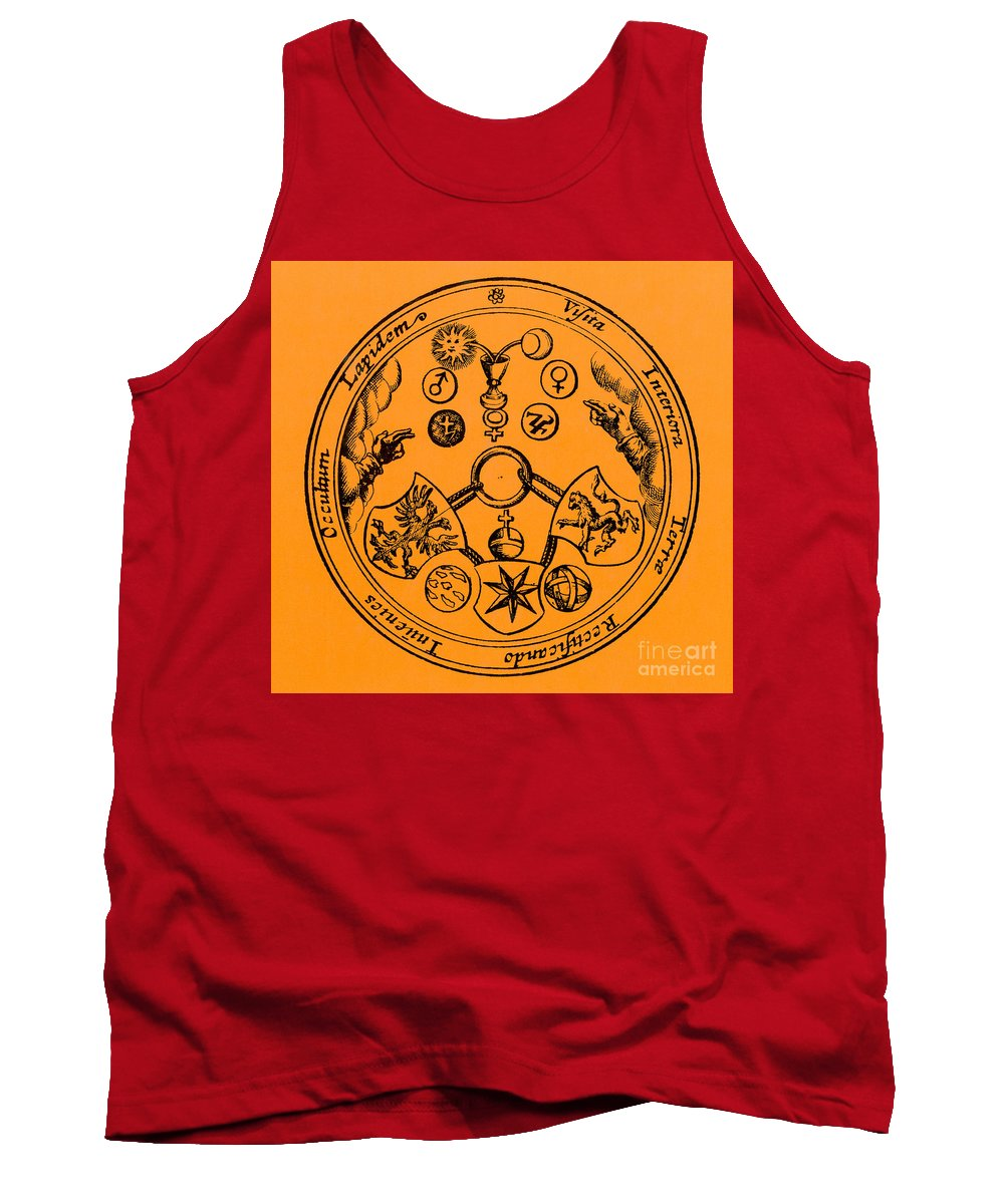 Historic Tank Top featuring the photograph Alchemical Symbols, 1670 by Science Source
