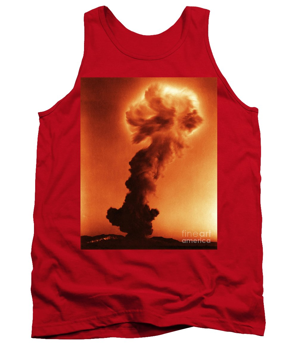 Thermonuclear Detonation Tank Top featuring the photograph Atomic Bomb Explosion by Omikron
