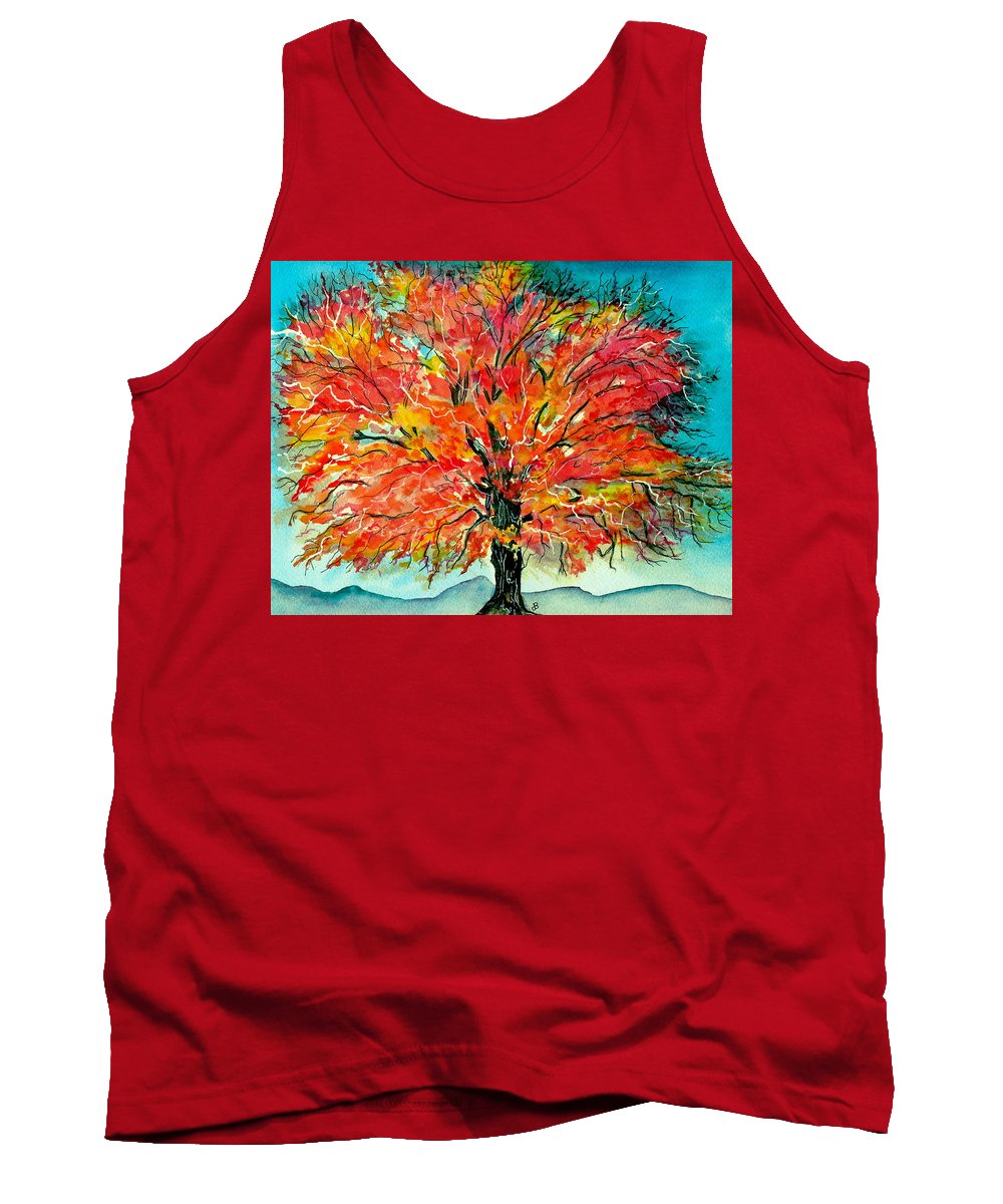 Watercolor Tank Top featuring the painting Autumn Beauty by Brenda Owen