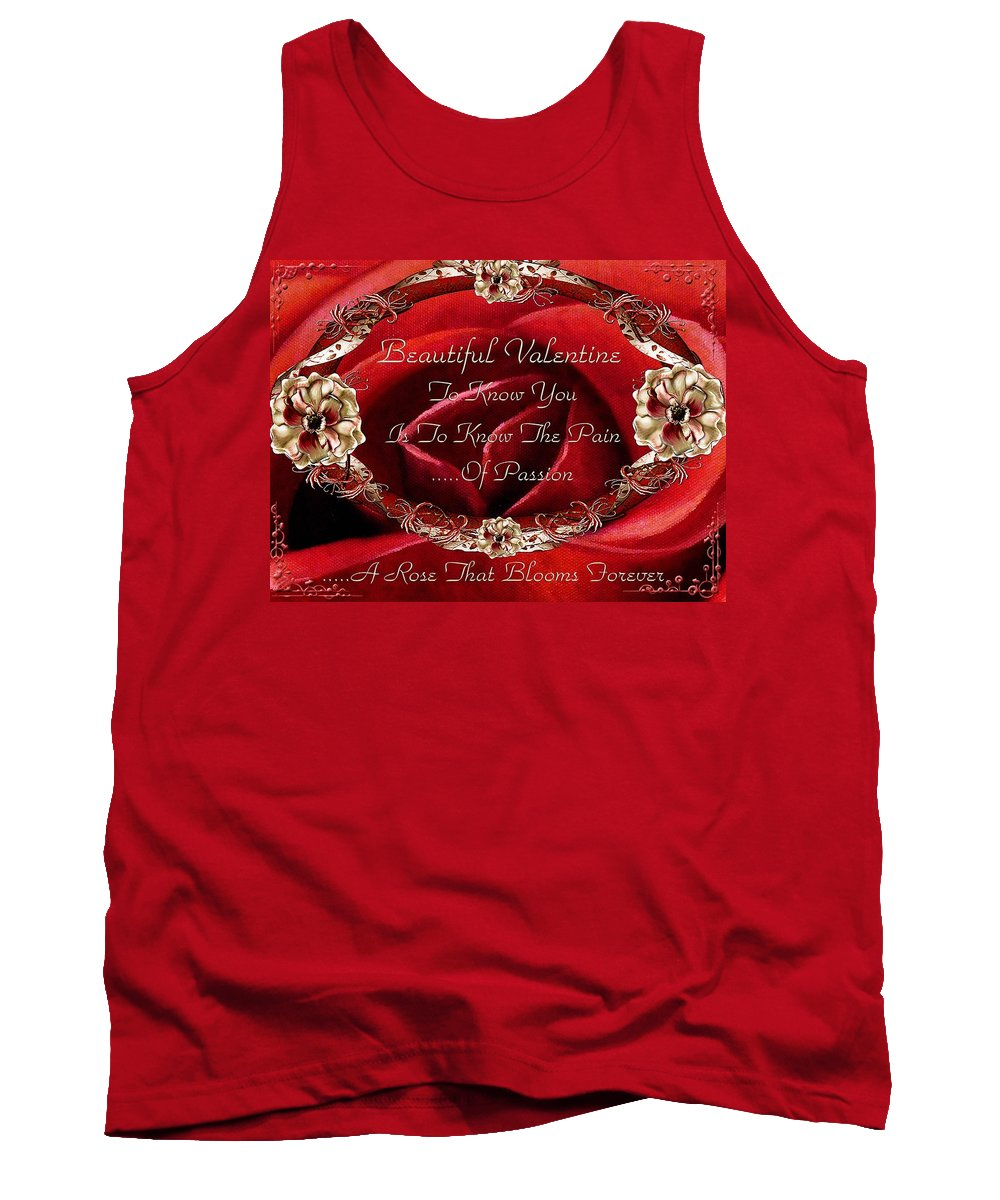 Valentine Tank Top featuring the painting Beautiful Valentine by Georgiana Romanovna