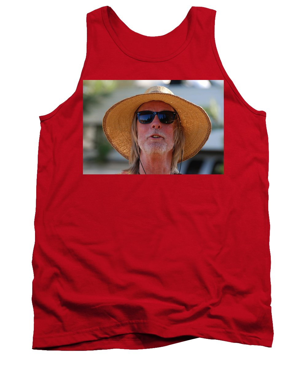 Strawberry Music Festival Tank Top featuring the photograph Big Straw Hat by Eric Tressler