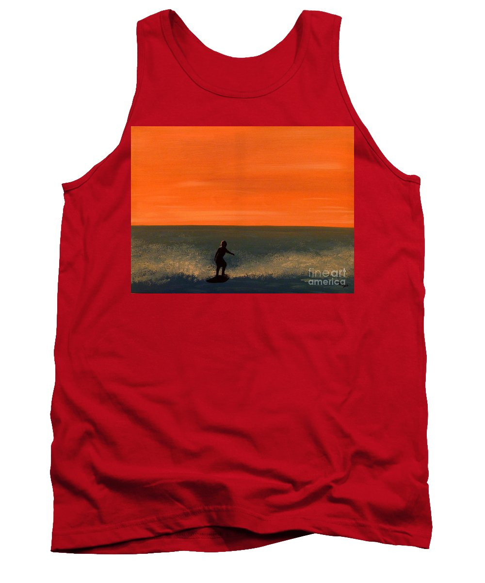 California Tank Top featuring the painting California Boy by Alys Caviness-Gober