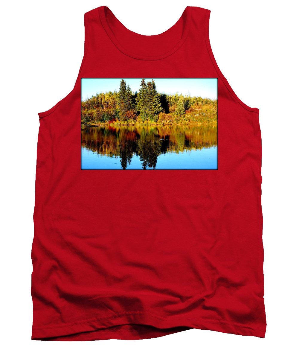 Fairbanks Tank Top featuring the photograph Chena River by Kathy Sampson