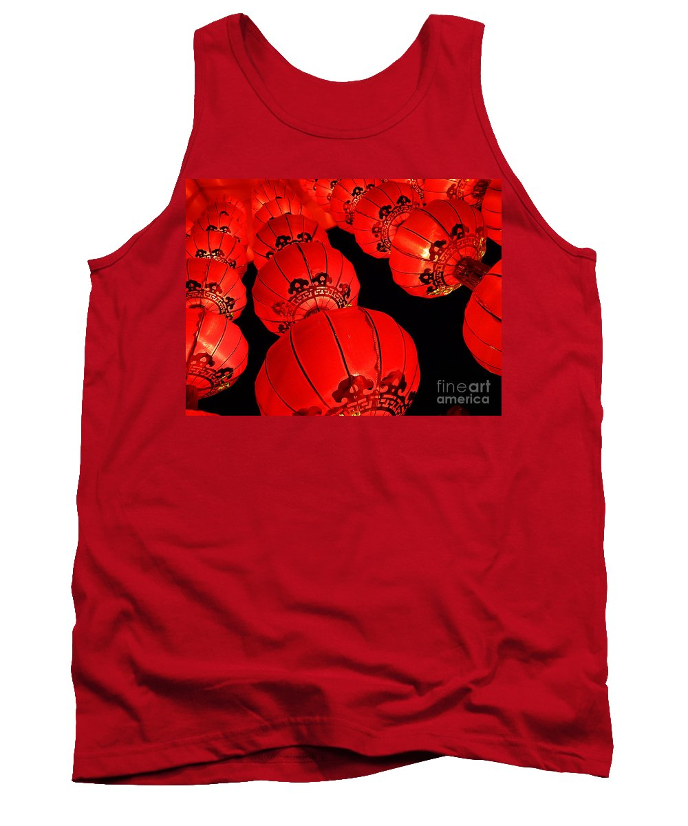 Asia Tank Top featuring the photograph Chinese Lanterns 3 by Xueling Zou