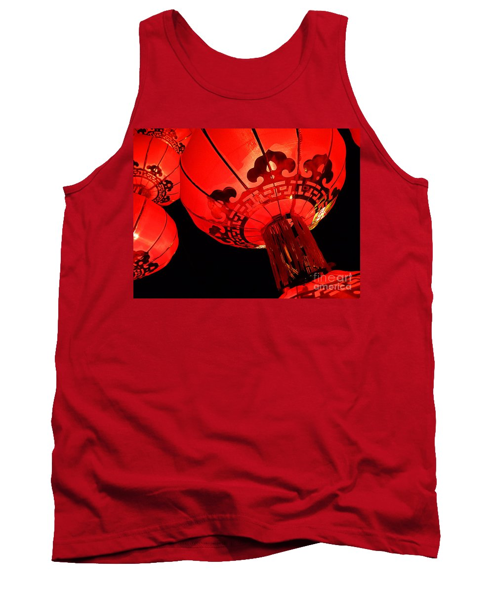 Asia Tank Top featuring the photograph Chinese Lanterns 4 by Xueling Zou