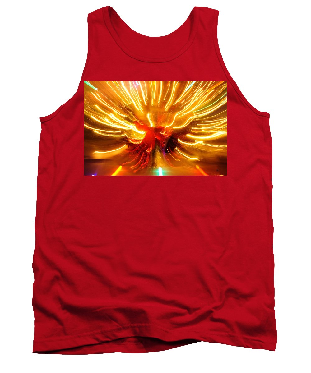 Tank Top featuring the photograph Christmas Wreath Light Burst by Mark Valentine