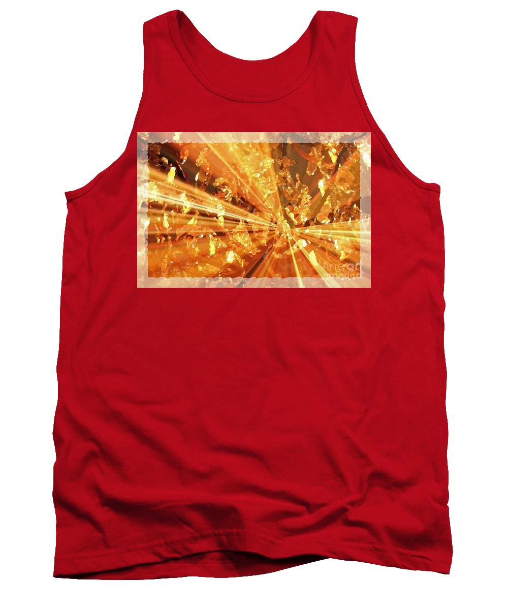 Glowing Tank Top featuring the photograph Crystallized - Digital Art Abstract by Carol Groenen