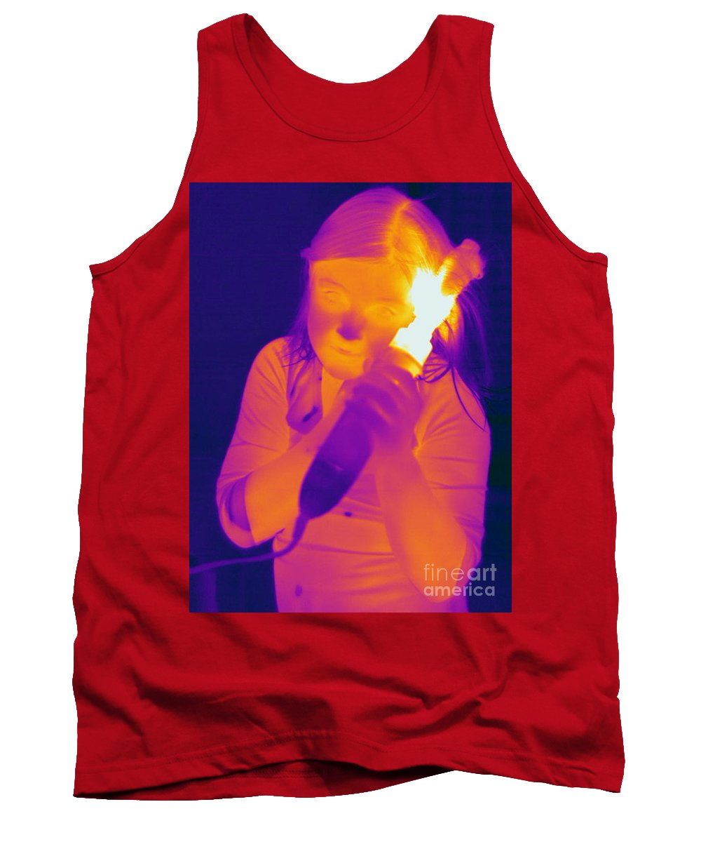Thermogram Tank Top featuring the photograph Curling Iron by Ted Kinsman
