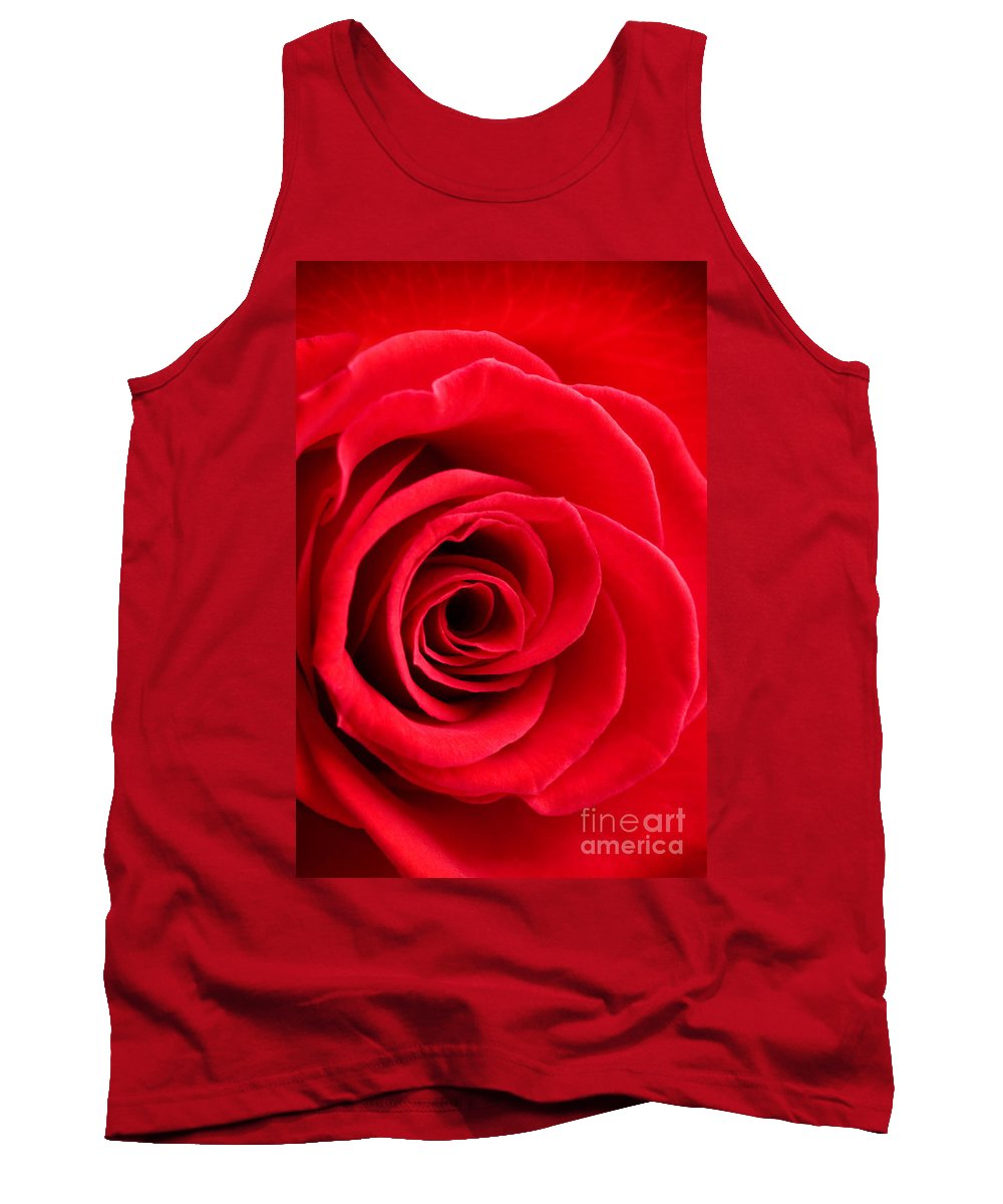 Kamo Tank Top featuring the photograph Detail Of Red Rose by Kati Finell