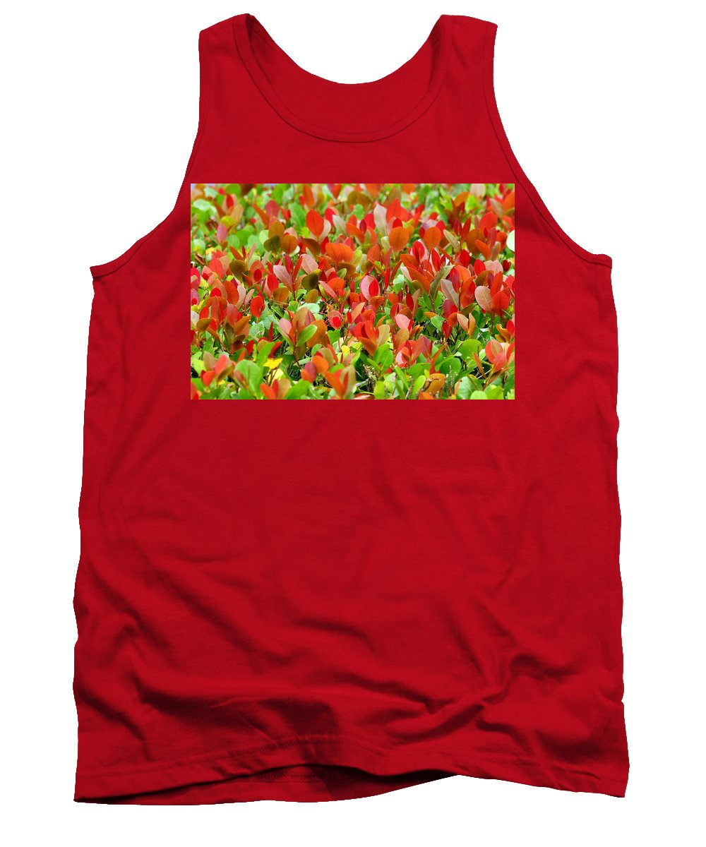 Leaves Tank Top featuring the photograph Emerging Red by Jacob Klaus