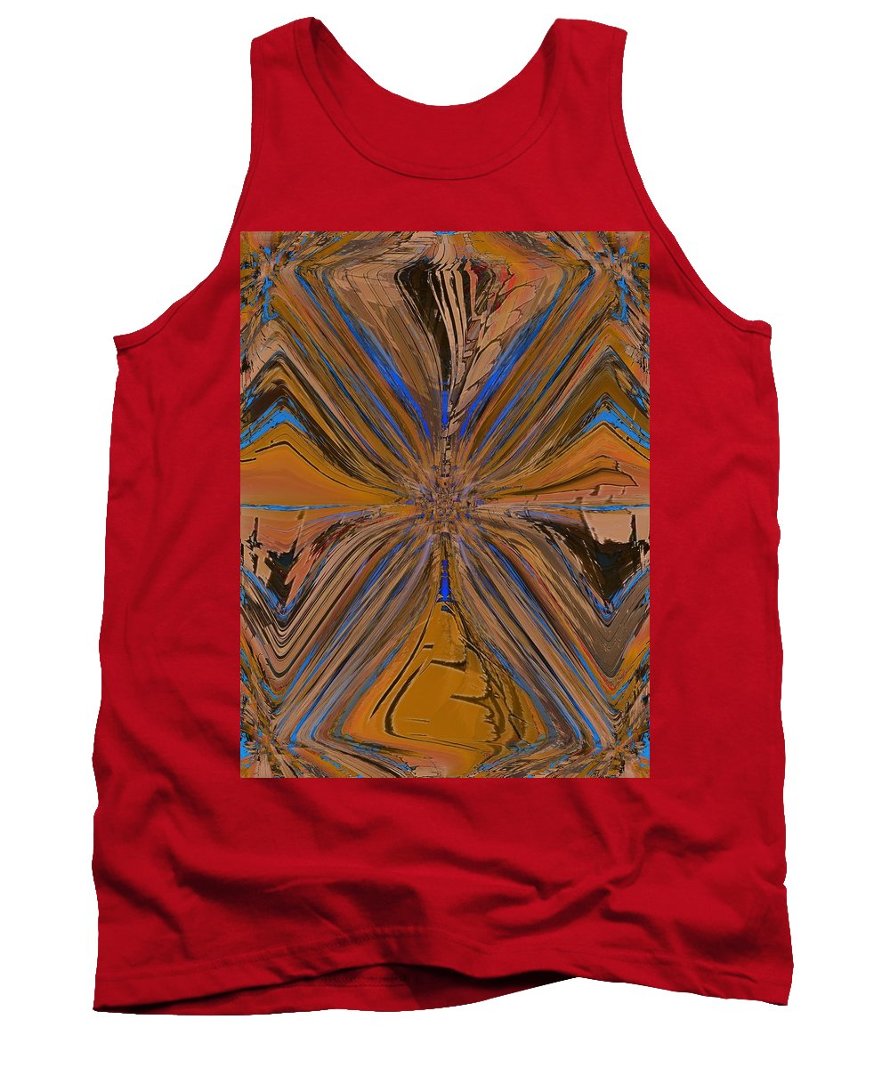 Abstract Tank Top featuring the digital art Fissure by Tim Allen
