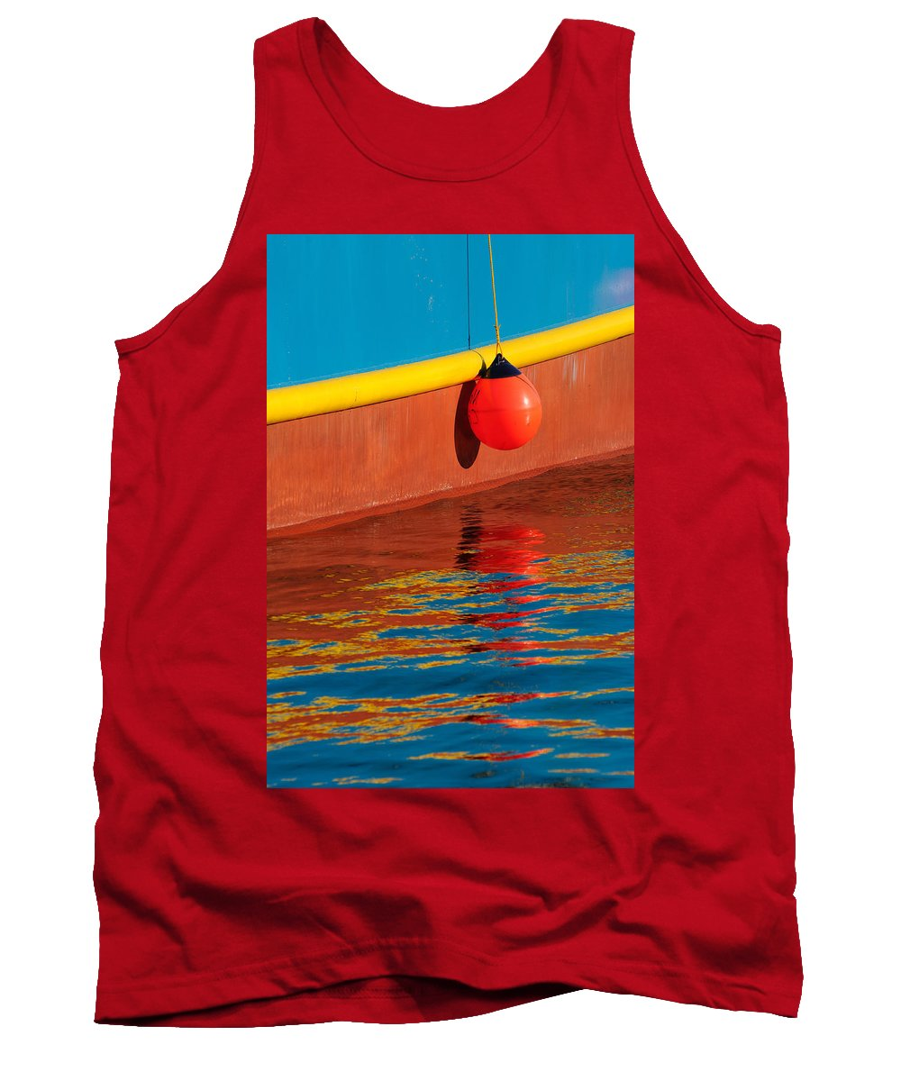 Boat Tank Top featuring the photograph Harbor Colors by Bobbie Climer