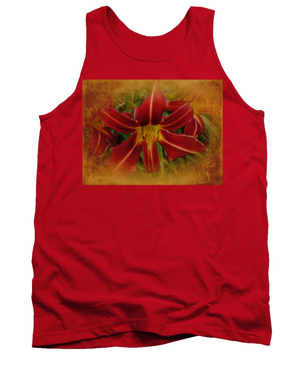 Lily Tank Top featuring the photograph Heart Of The Lily by Mother Nature