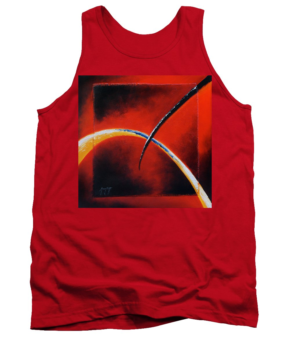 Art Tank Top featuring the painting Intersect by Mauro Celotti