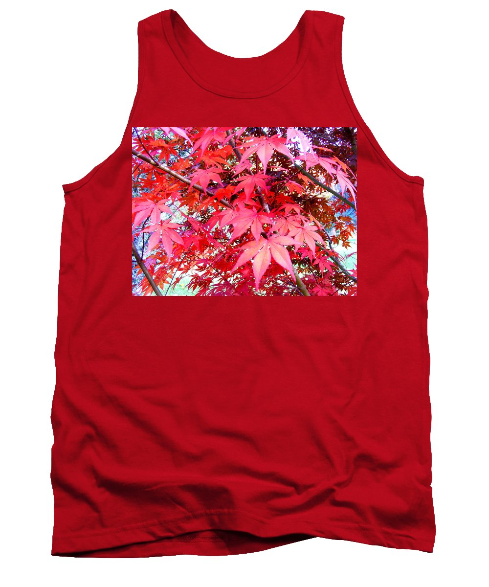 Fall Tank Top featuring the photograph Japanese Maple Leaves 11 In The Fall by Duane McCullough