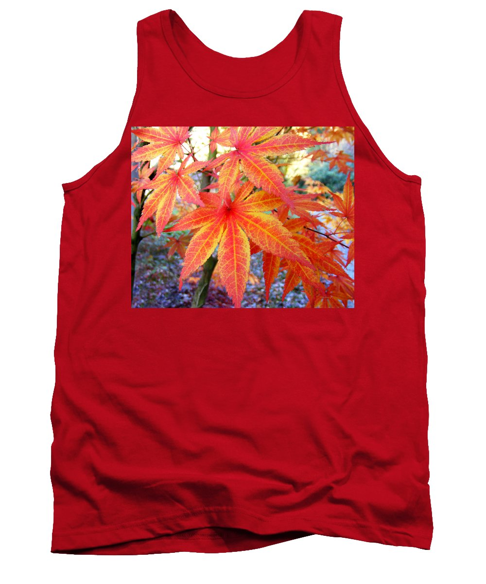 Fall Tank Top featuring the photograph Japanese Maple Leaves 13 In The Fall by Duane McCullough