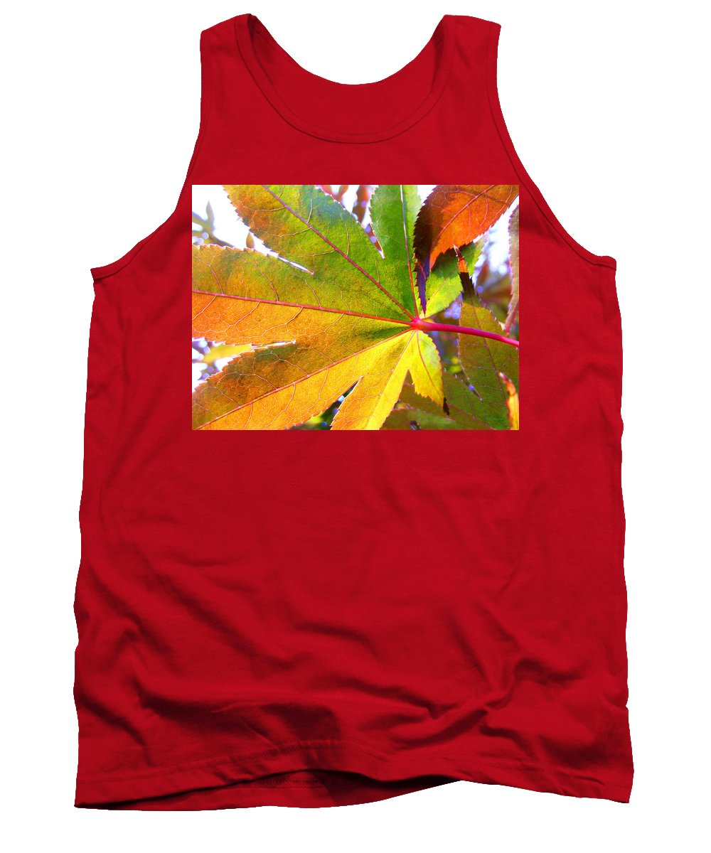 Fall Tank Top featuring the photograph Japanese Maple Leaves 7 In The Fall by Duane McCullough