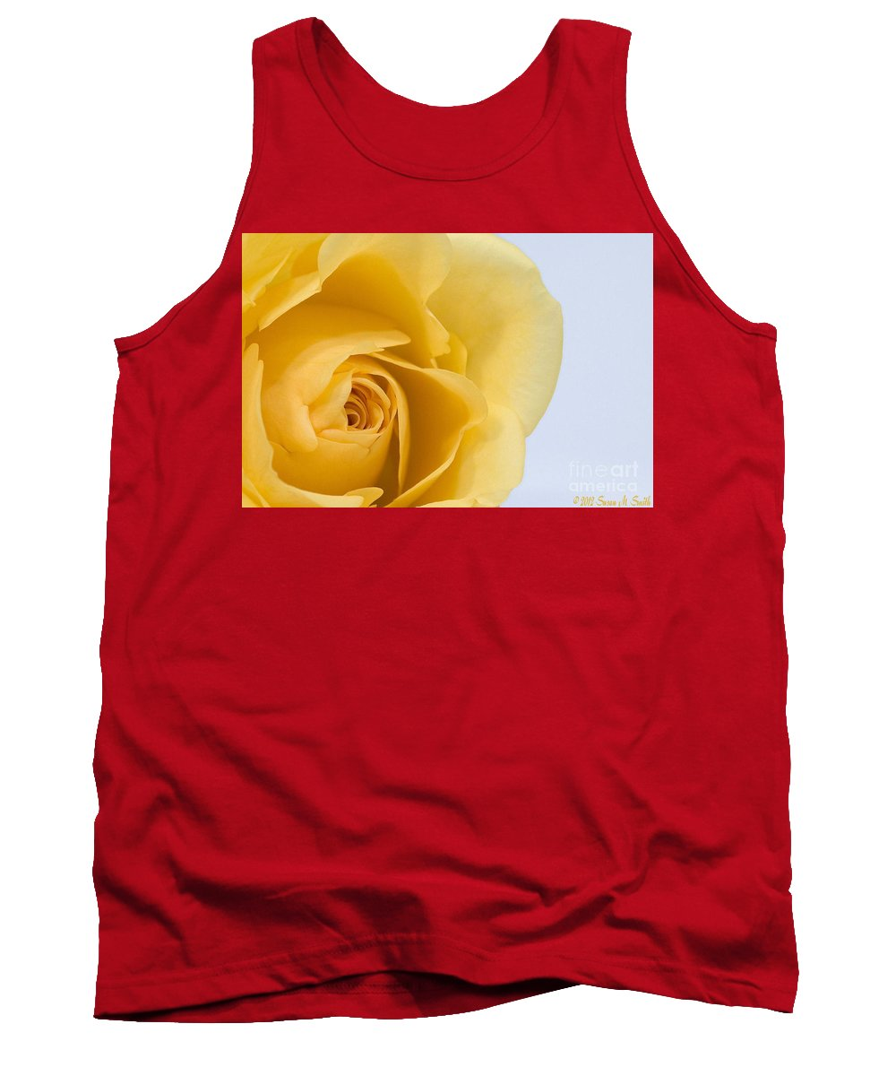 Flower Tank Top featuring the photograph Lemon Twist by Susan Smith