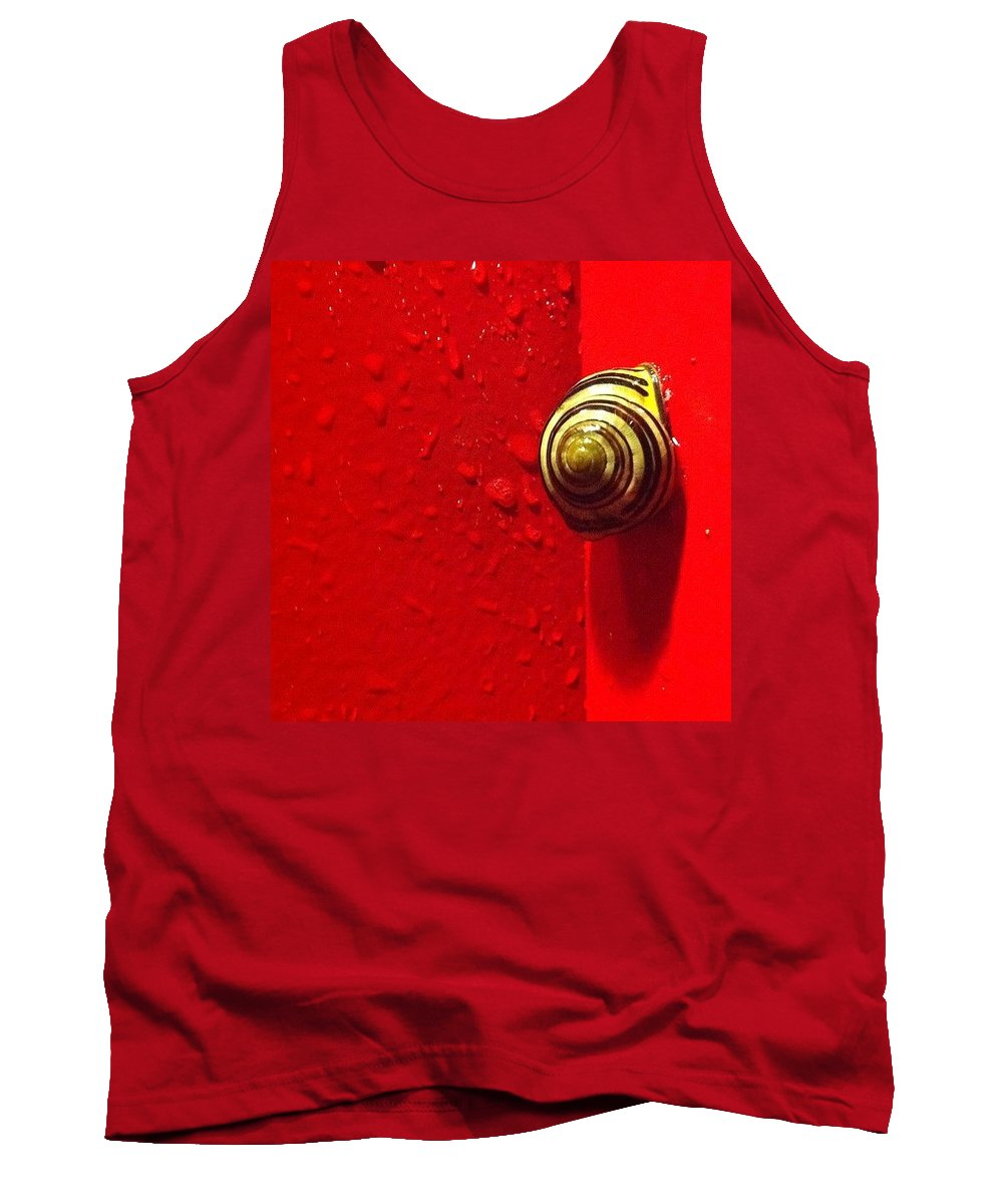 Nofilter Tank Top featuring the photograph Never A Shortage Of #snails Back Here by Katie Cupcakes